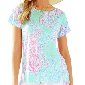Lilly Pulitzer | Mikela Linen Top Fansea